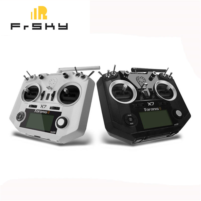 Free Shipping FrSky ACCST Taranis Q X7 2.4G 16CH Mode 2 Transmitter Remote Controller White Black International Version(China)