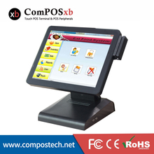 Fanless 15 Inch Point Of Sale All In One Epos System For Restaurant Comercial Touch Screen Pos Terminal POS1619