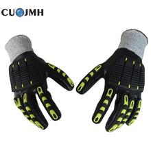 1 Pair General Protective Gloves Mechanical Shakeproof Tpr Cut Protection Gloves Wear-resisting Cycling Work Glove