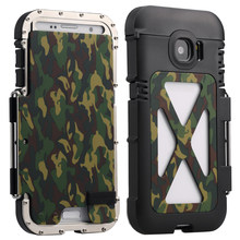 Armor Iron Man Steel Metal Shockproof Flip Case For Samsung Galaxy S6 S7 Edge Plus Note 4 5 Note4 Note5 Camo Style phone cover(China)