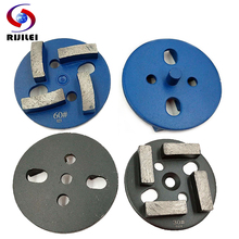 RIJILEI 6 PCS 3Diamond segments grinding disc for floor grinding 80mm Marble Grinding Shoe Plate Disc Surface Terrazzo JX02 [1st step] 8 ncctec diamond stone slabs grinding disc 200mm granite abrasive wheels plate 12 segments iron base grit 50