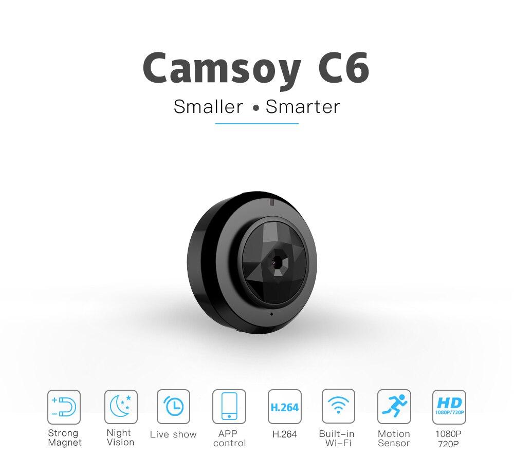 Camsoy C6 Cookycam Micro WIFI Mini กล้องขนาดเล็ก HD 720P พร้อม Night Vision IP WIFI Cam Home Security Video กล้องวิดีโอ-ใน กล้องวิดีโอขนาดเล็ก จาก อุปกรณ์อิเล็กทรอนิกส์ บน AliExpress - 11.11_สิบเอ็ด สิบเอ็ดวันคนโสด 1