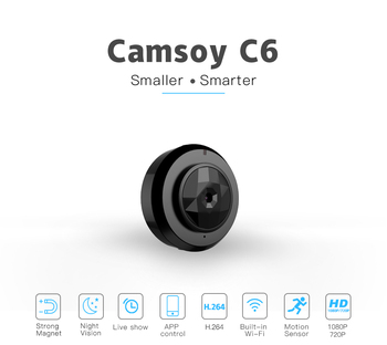Camsoy C6 Cookycam Micro WIFI Mini jest idealny dla kamera HD 720P z Night Vision IP kamera WIFI bezpieczeństwo w domu kamera wideo ukryte tanie i dobre opinie 1080 p (full hd) C6 SPIED Microsd tf CMOS 78° MP4 H 264 1280 x 720 JPG Built-in 350mAh Li-ion Battery External memory card Micro SD card up to 32GB capacity (SDHC)