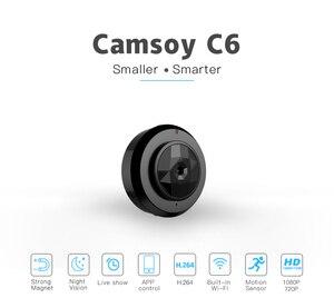 Image 1 - Camsoy C6 Cookycam Micro WIFI Mini jest idealny dla kamera HD 720P z Night Vision IP kamera WIFI bezpieczeństwo w domu kamera wideo ukryte