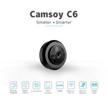 Camsoy minicámara pequeña HD C6 Cookycam con WIFI y visión nocturna, videocámara de seguridad oculta para el hogar, 720P