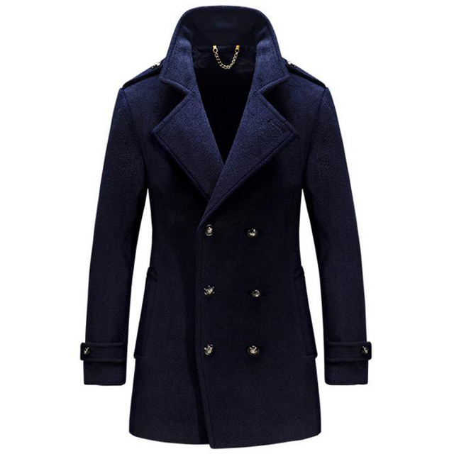 b2a0934ac37 High Quality Plus Size 4XL Men Peacoat Jacket Winter Style Wool Coat Mens  Online Imported Thick