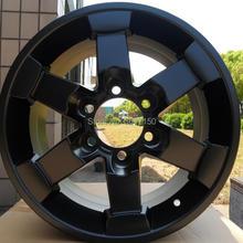 16x8J колесные диски PCD 6x139,7 центр Broe 106 ET15 из атласного черного сплава