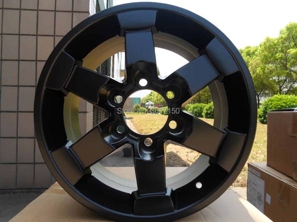 16x8J Wheel Rims Of The PCD 6x139.7 Center Broe 106 ET15 Of The Satin Black Alloy the game of wheel