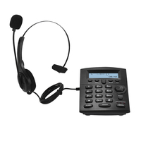 HST 8000 English Telephone Set Call Center Telephone With Protecting Earphone Flexible Microphone LCD Display Pre dial Call Back