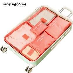 Высокое качество ткань Оксфорд 6 шт./компл. сетчатая, для путешествий сумка в сумке Чемодан Организатор Упаковка косметичка объемный