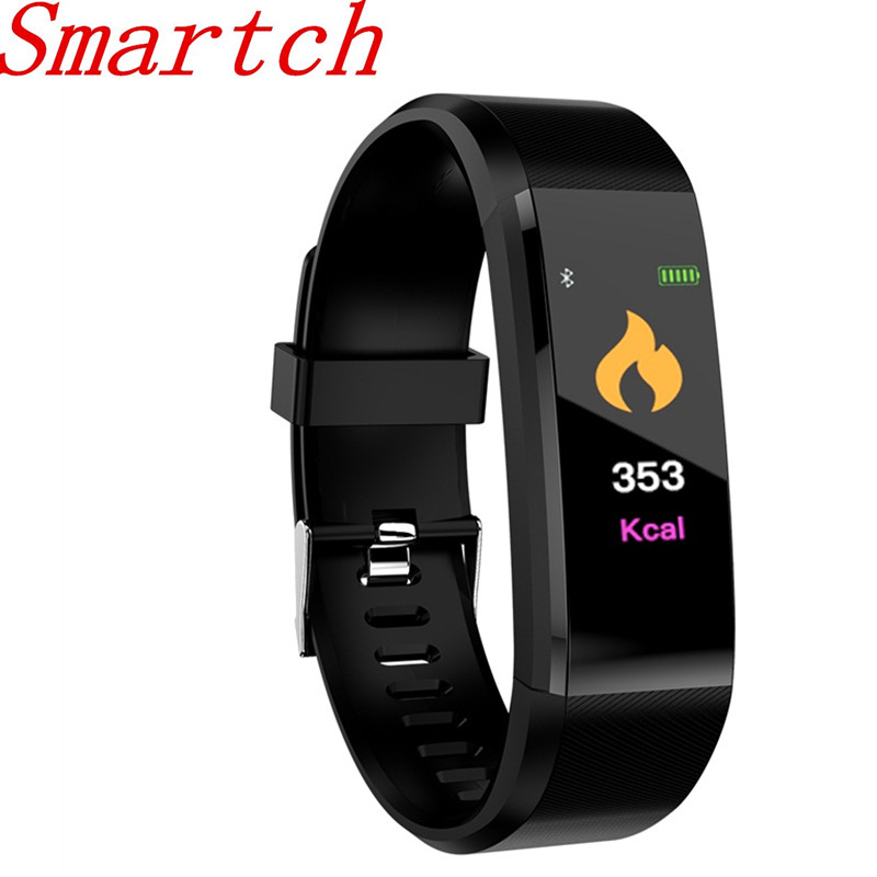 Smartch ID115 Plus Smart Bracelet GPS Fitness Tracker Watches Band Heart Rate Step Counter Multi-sport H115 Wristband For IOS An