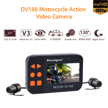 купить DV188 Blueskysea Camera Motorcycle Bike Car DVR Vehicle Cam 1080P FHD Dual Lens Dash Cam HD 2.7 LCD Waterproof Camcorder дешево