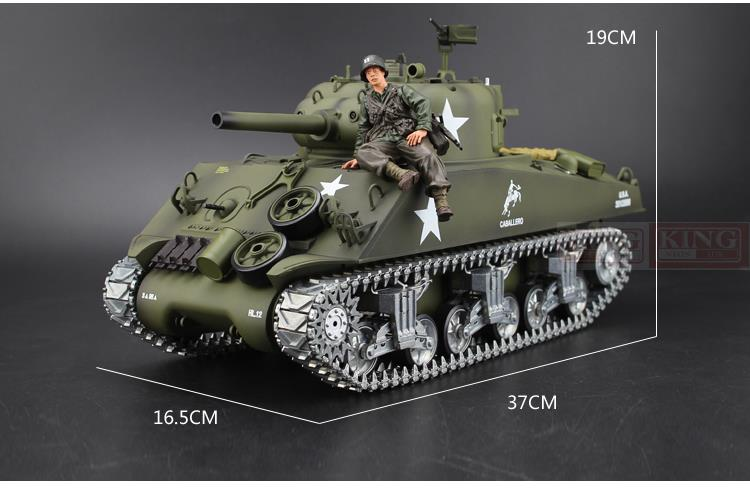 388d6862537f Henglong 1 16 scale 2.4GHz RC tank Sherman M4A3 battle Tank U.S.Army  Ultimate metal version Smoke Sound Metal Gear Tracks-in RC Tanks from Toys    Hobbies on ...