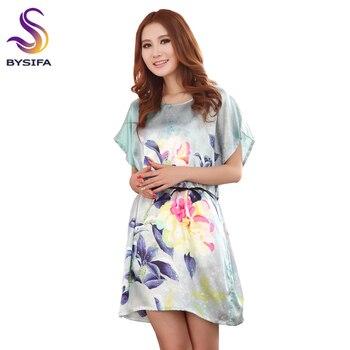 b80665b925a0 Camisones de verano para mujer, nuevo diseño, ropa para el hogar, ropa de  dormir verde claro, camisón de seda de estilo suelto y elegante