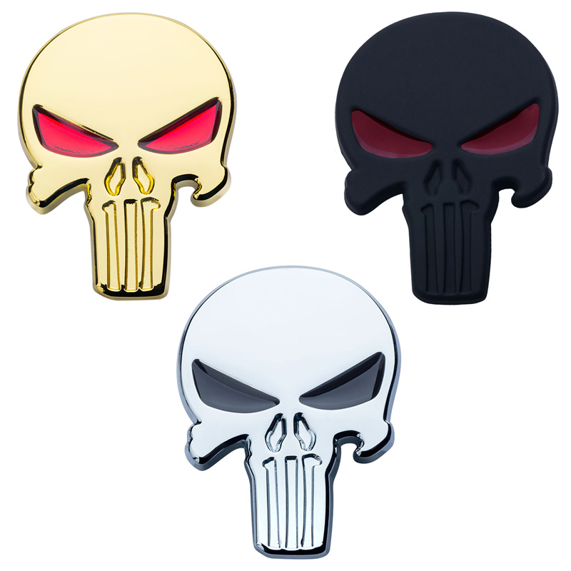 3D Skull Car Sticker Metal Ghost Halloween Gift for Harley Davidson motorcycle Auto Moto Sticker Car Styling for KIA Chevrolet
