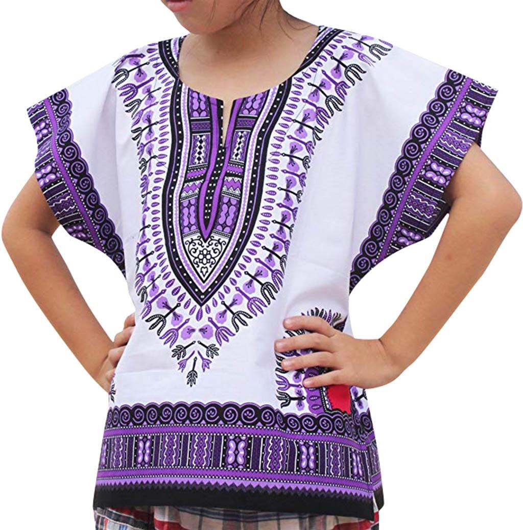 2019 Sommer Kleinkind Kinder Shirts Jungen Mädchen Kinder Baby Unisex Helle Afrikanische Farbe Kind Dashiki T Shirt T Tops Für Kinder