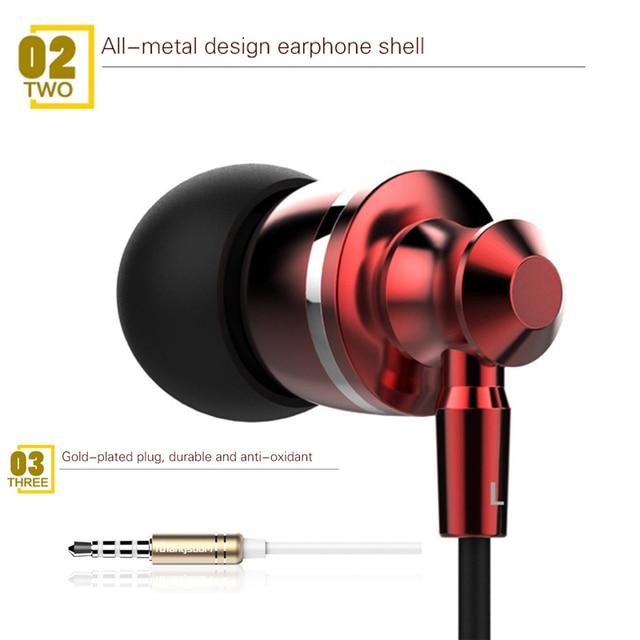 Original Langsdom M300 Metal Earphones with Mic Volume Control earphone for iphone 6 for Samsung Xiaomi mi6 PC fone de ouvido