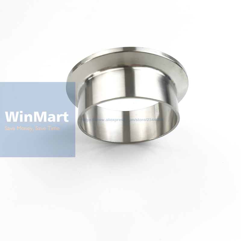 "1pc 19mm Tube O/d X 2"" 50.5mm Ferrule O/d X 21.5mm Height Sanitary Weld Ferrule Connector Fitting Home Berw 304 Stainless Steel To Enjoy High Reputation At Home And Abroad"