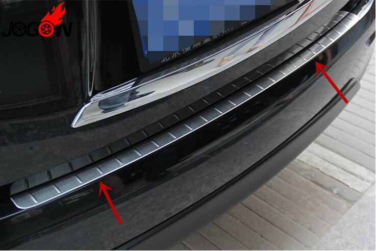 Accessories 304 Stainless Steel Rear Bumper Protector Tailgate Cover Door Sill For INFINITI JX35 QX60 2013-2015 Car stylingAccessories 304 Stainless Steel Rear Bumper Protector Tailgate Cover Door Sill For INFINITI JX35 QX60 2013-2015 Car styling