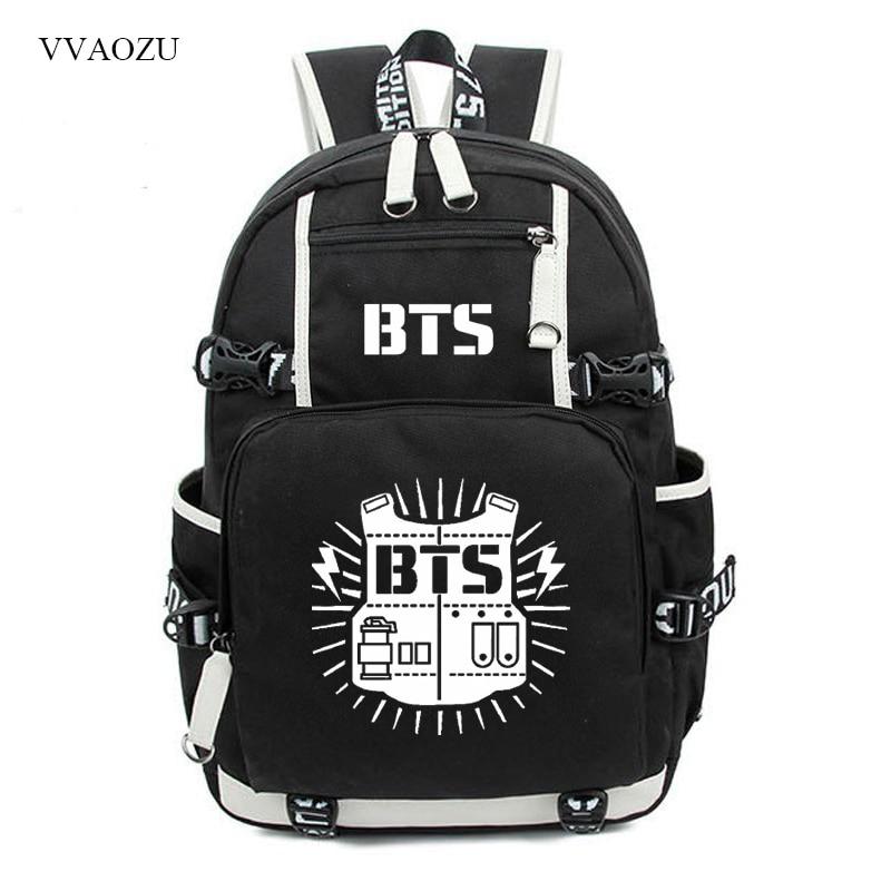 756df9efc2aa Bangtan Boys BTS Backpack Rucksacks JUNG KOOK JIMIN Printing Student School  Bags Travel Laptop Shoulder Bag
