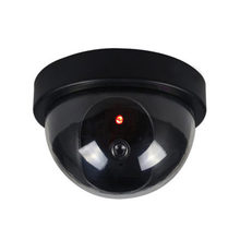 Black Plastic Smart Indoor/Outdoor Dummy Home Dome Fake CCTV Security Camera with Flashing Red LED Light CA-05(China)