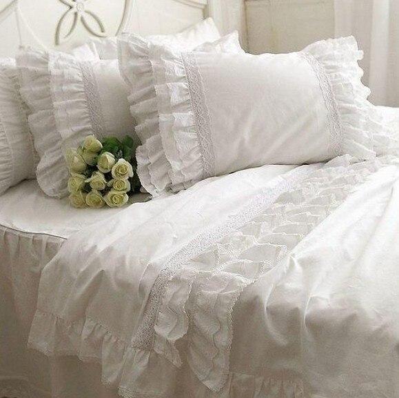 Ensemble de literie à volants en dentelle blanche de luxe, une fille - Textiles de maison - Photo 3