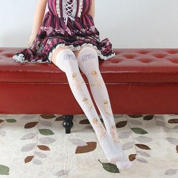 Sweet Printed Lolita Long Stockings Cute Mori Girl Thigh High Tights tights