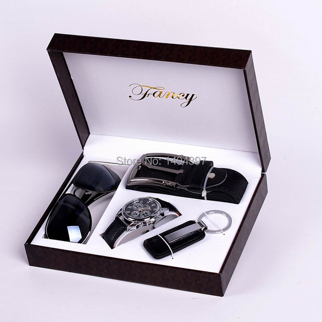 Men Birthday Gift Suit Package Car Key Ring Sunglasses