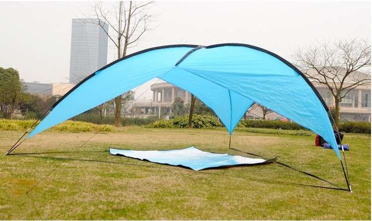 Waterproof Polyester3 4 Persons Anti UV Outdoor C&ing Tent canopy Sun Shelter Tent Awning Pergola Beach Tent Pack-in Sun Shelter from Sports ... & Waterproof Polyester3 4 Persons Anti UV Outdoor Camping Tent ...