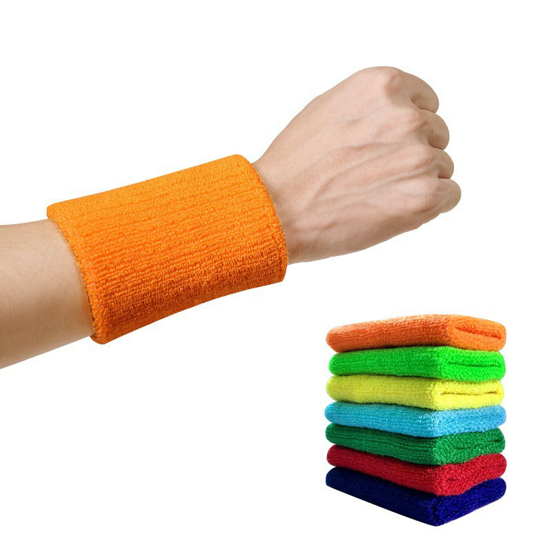 купить 1 Pcs Wrist Brace Support Sport Wristband Sweatband for Gym Volleyball Tennis Hand Sweat Band Wraps Guards Men Protector Wrist по цене 29.38 рублей