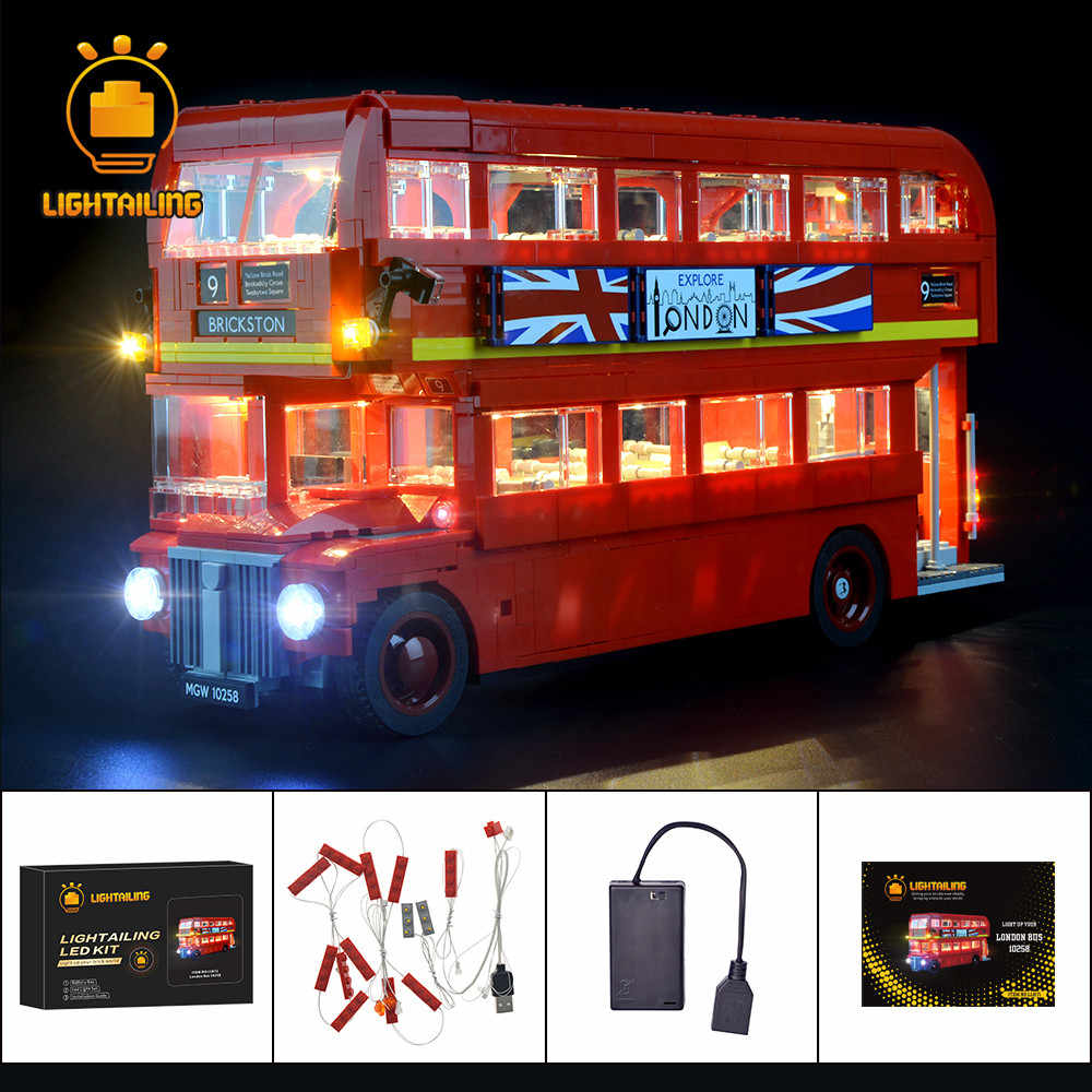 Kit de luces LED lighttailing para el creador de London Bus, conjunto de iluminación Compatible con 10258