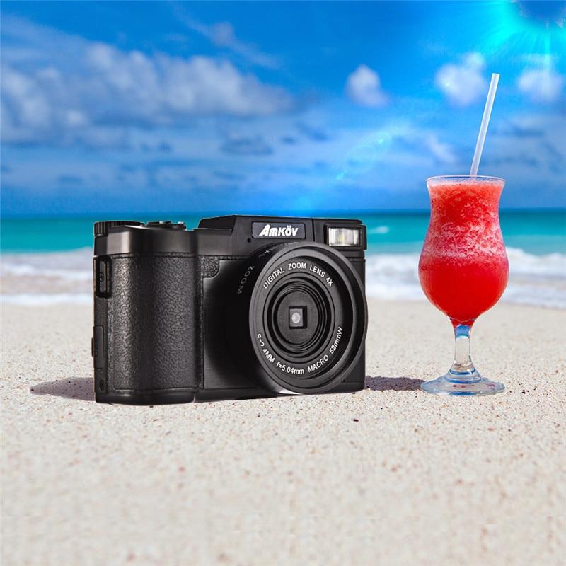Amkov 1080P HD Shooting 4 Times Digital Camera AMK-CDR2 24 Megapixel Digital Zoom Beauty Self-timer Camera Mini Digital Camera
