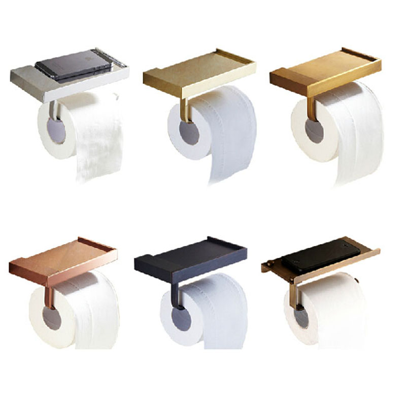 Multi-color Wall Mount Brass Toilet Paper Rack Bathroom Lavatory Toilet Paper Holder and Dispenser смеситель для ванны grohe grohtherm 2000 new 34174001