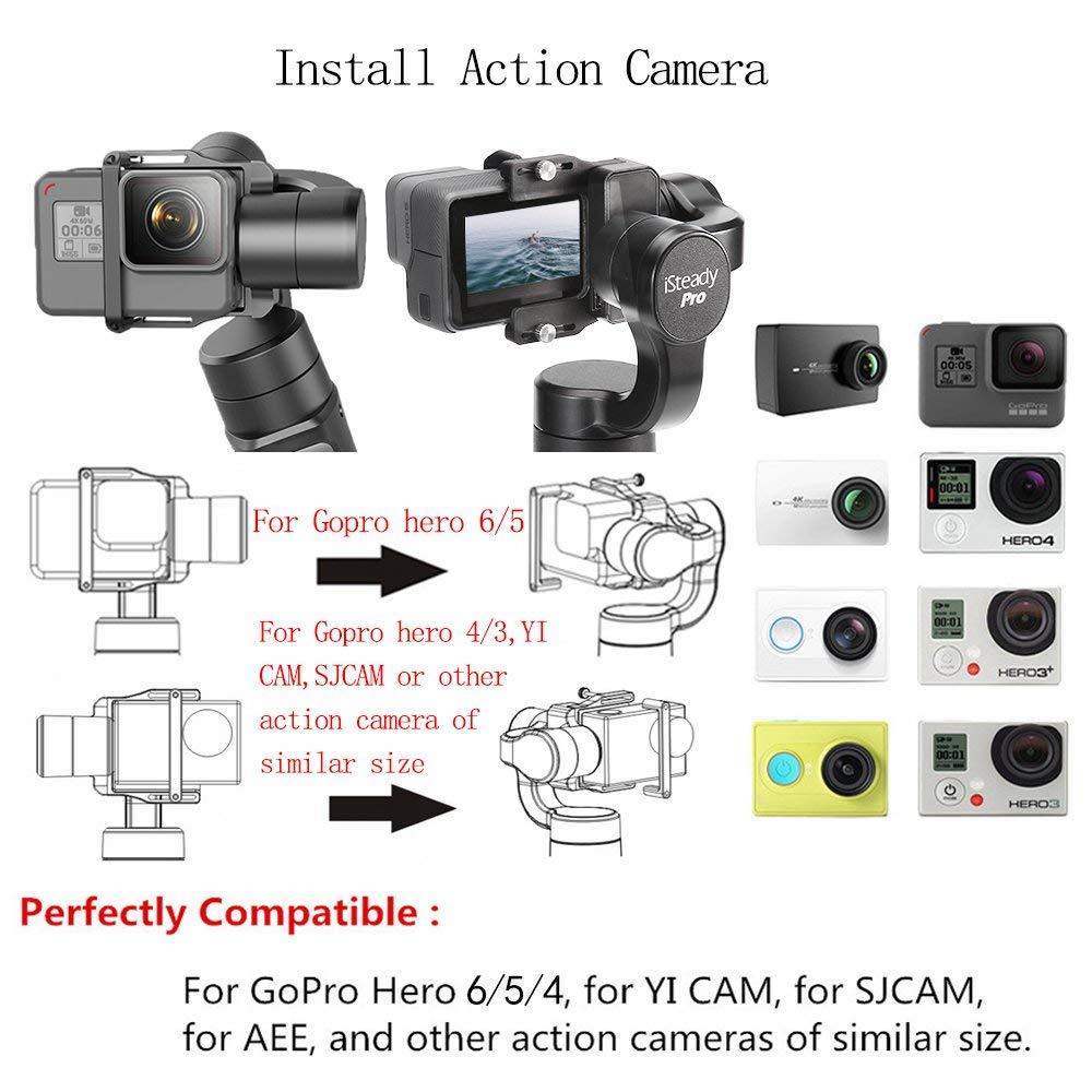 Hohem iSteady Pro 3-Axe stabilisateur de cardan pour GoPro Hero 7 6 5 4 3 Yi 4 K, caméra d'action RXO AEE SJCAM, 3-Axe GoPro Cardan - 4