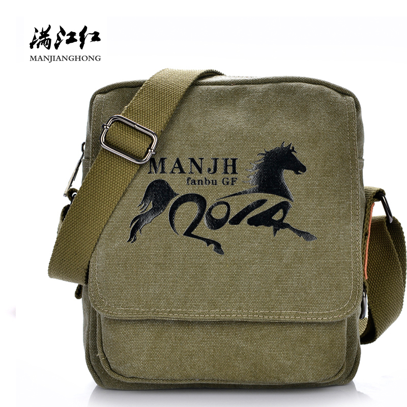 Fashion Canvas Men Messenger Bags Small