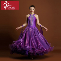 Modern Ballroom Competition Dress Standard Waltz Tango Handmade Dance Dress
