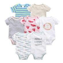 Kavkas vetement bebe, лето, 7 шт./лот, одежда для маленьких мальчиков, roupas de bebe recien nacido, Одежда для новорожденных девочек 0, 3, 6, 9, 12 месяцев
