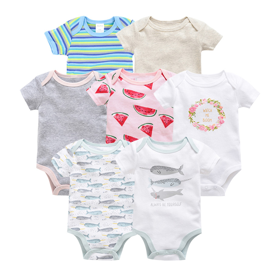 kavkas vetement bebe summer 2019 7PCS/lot baby boy roupas de bebe recien nacido infant girls ropa <font><b>0</b></font> <font><b>3</b></font> 6 9 12M newborn clothes image