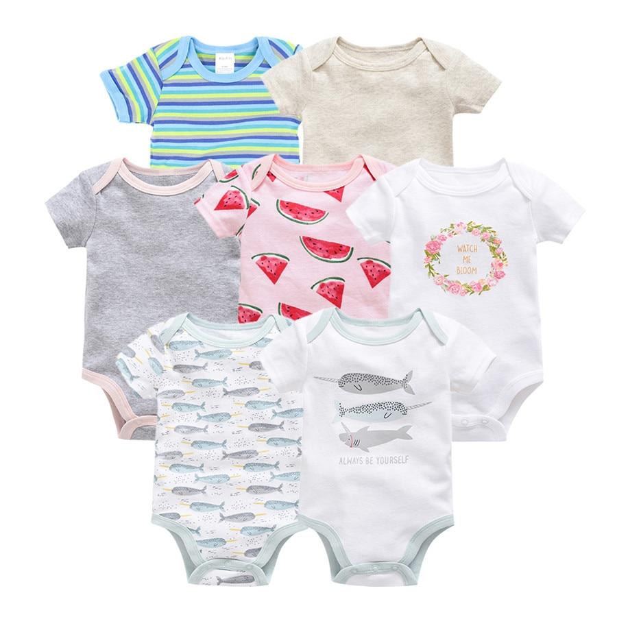 Kavkas Vetement Bebe Summer 2019 7PCS/lot Baby Boy Roupas De Bebe Recien Nacido Infant Girls Ropa 0 3 6 9 12M Newborn Clothes