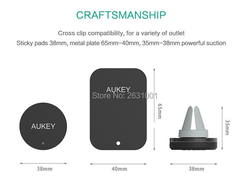 AUKEY USB car magnetic air vent charger 8