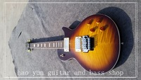 New Arrival Custom 24 Vintage Sunburst LP Standard Electric Guitar OEM Floyd Rose Tremolo One Piece