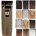 "170G Clip in ins Hair Extensions Full Head Synthetic 26"" 66CM For Party/Gift Professional US UK 1-5 Delivery day"