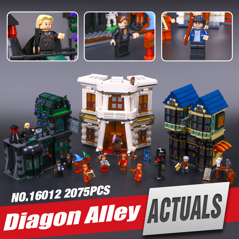 цены Lepin 16012 Genuine Limited Edition Harry Potter The Diagon Alley Set legoing 10217 Educational Building Blocks Bricks Toys Gift