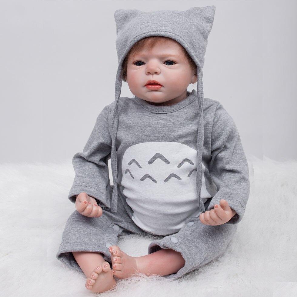 Otarddoll Bebe Reborn 22 pouces 55 cm silicone souple vinyle Reborn bébé poupée jouets réaliste enfant anniversaire noël cadeau jouet pour fille