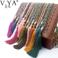 Buddha Necklace Vintage Maxi Women Handmade Bijoux Femme Collares Bohemian Collier Boho Long Crystal Tassel Jewelry VN129