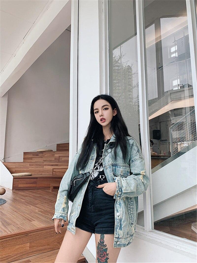 HTB1N5FubQ5E3KVjSZFCq6zuzXXaI RUGOD 2019 New Autumn Funny Cartoon Print Long Denim Jacket Women Vintage Streetwear Punk Style Jean Jacket casaco feminino
