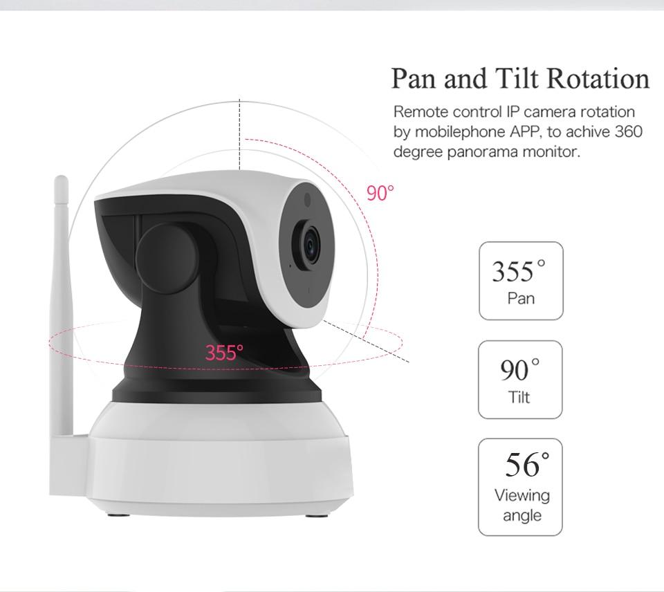 HTB1N5FukrZnBKNjSZFhq6A.oXXaC VStarcam Wireless Security IP Camera Wifi IR-Cut Night Vision Audio Recording Surveillance Network Indoor Baby Monitor C7824WIP
