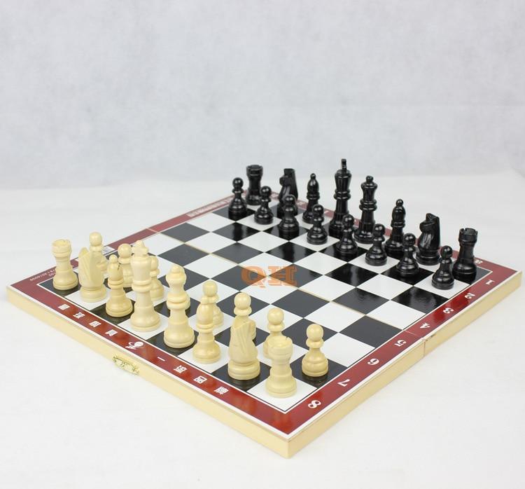 Φυσικό ξύλινο σκάκι μικρό / μεσαίο / - Ψυχαγωγία - Φωτογραφία 4