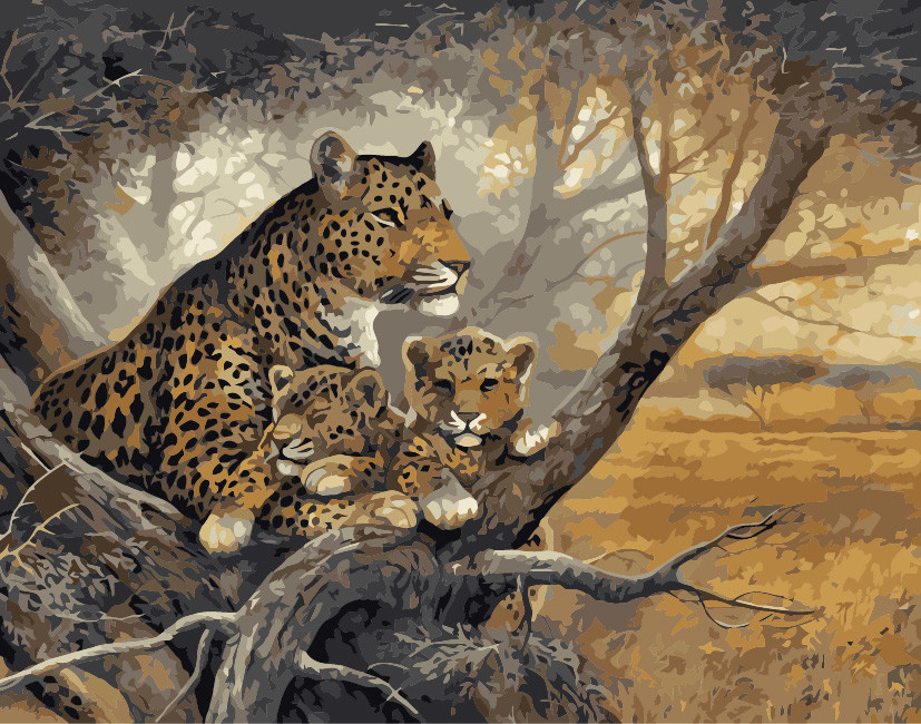 Cheetah Painting By Numbers Quadros Home Decor Wall Art Decorative Pictures For Living Room Diy Oil