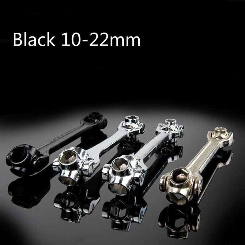 8 в 1 черный 10-22 мм Многофункциональный hex универсальный разъем Гаечные ключи высокое качество гибкая углерода Сталь автомобиля ремонт ручно...